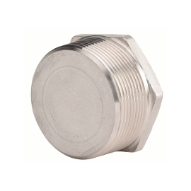 2077 - Dop hexagonal plin inox