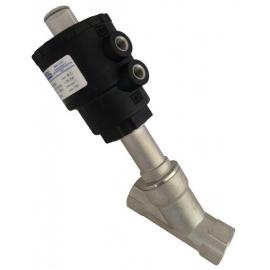 ARES - Robinet pneumatic inox corp inclinat