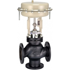 TM10 - Robinet ventil de reglaj cu 3 cai cu actionare pneumatica