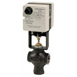 VMB+MVB - Robinet ventil de reglaj cu actionare electrica 3 cai