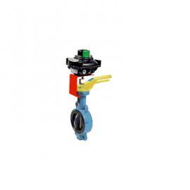 1141 SF – Robinet Fluture Gaz Wafer Corp Fonta Ductila Clapa Inox Garnitura NBR Cu Pozitioner ATEX SK012