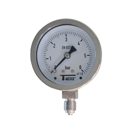 1616 - Manometre total inox radiale d63mm