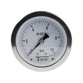 1626 - Manometre total inox axiale d63mm