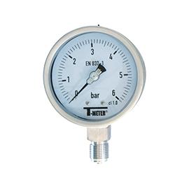 1617 - Manometre total inox radiale d100mm