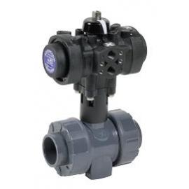 C200 - Robinet sfera PVC-U - PP - PVDF cu actionare pneumatica PRISMA
