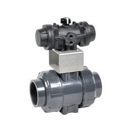 CL1 - Robinet sfera PVC-U - PP cu actionare pneumatica PRISMA