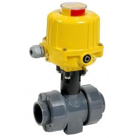 C200 - Robinet sfera PVC-U - PP - PVDF cu actionare electrica