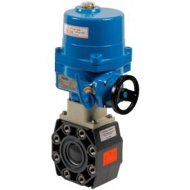 C110 - Robinet sfera Wafer PVC-U  cu actionare electrica