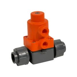 MV308 - Robinet pneumatic cu membrana PVC-U